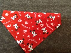 Dog Collar Bandana Valentines Bandana Over Collar Bandana Dog Accessories Puppy Accessories Dog Scarfs Puppy Scarfs Handmade Bandana by chrissyscoatsfork9s on Etsy