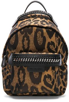 Stella McCartney Falabella Go Alter Leopard Print Mini Backpack