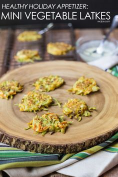Whether you celebrate Hanukkah, Christmas, Festivus, or otherwise, you'll want to add these Mini Vegetable Latkes to your holiday party menu this season!