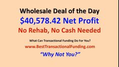 Here's a recent Best Transactional Funding deal with no rehab costs or cash up front. Make your next real estate investing deal this easy. BestTransactionalFunding.com Real Estate Contract, Real Estate Book, Real Estate Coaching, Real Estate Investor, Wholesaling Houses, Website Footer, Wholesale Real Estate, Retail Customer, The Borrowers