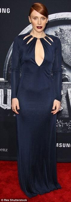 Bolt out of the blue: Bryce Dallas Howard arrived to the Hollywood premiere of Jurassic Wo...