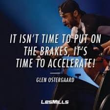 """""""It isn't time to put on the brakes, it's time to accelerate! Rpm Les Mills, Les Mills Sprint, Fitness Motivation Quotes, Weight Loss Motivation, Workout Motivation, Spin Instructor, Hugot Quotes, Cycling Quotes, Gym Memes"""