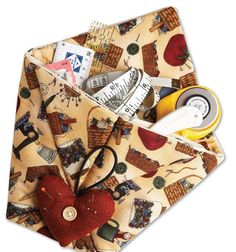 It's in the bag! - Simple squares and clever foding = quick to make useful little notions bags - by Annie Harris