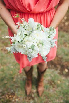 #boots  Photography: Loft Photographie - loftphotographie.com Event Coordination: Coordinate This - coordinatethis.com Floral Design: Petal Pushers - petalpushers.us Venue: Vista West Ranch - vistawestranch.com  Read More: http://www.stylemepretty.com/2013/07/16/austin-wedding-from-loft-photographie/
