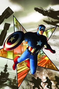 Captain America Vol. 6 Sep Regular Steve McNiven Cover & Ed Brubaker Story. A funeral for a fallen friend turns into a race against time as the original Captain America makes his explosive return! Marvel Comics, Marvel Heroes, Captain America 2011, Captain America Comic Books, Jack Kirby, Comic Book Covers, Comic Books Art, Comic Art, Book Art