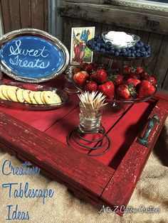 Creating A DIY Tablescape- Tell A Story by rePurposing! - adorable rustic tray!