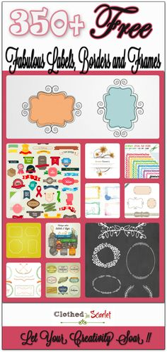 A massive round up of 350+ Free Fabulous Labels, Borders and Frames. I am sure these will help you in creating fabulous graphics without spending a dime!!