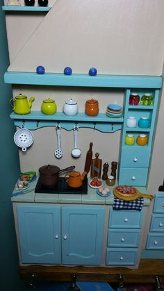Cozinha quadro em miniatura