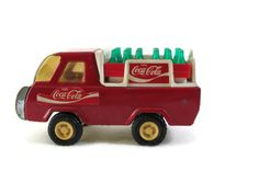 "Fresh picked and dusty! Buddy L Coca Cola vintage delivery truck with two removable cases. Measures 4-3/4"" long and approx 2-1/2"" tall. Please see all photos as they are considered a part of the descr"