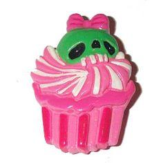 Cupcake Skull Brooch by Kreepsville 666  See it here >> www.beserk.com.au/kreepsville-666