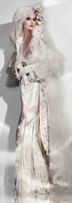 wedding gown by John Galliano