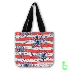 Cheap Lilly pulitzer fire cracker Tote Bags