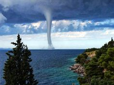 Seascape Photography  Juzer Shakir Images  -  11:49 AM   Awesome view of Waterspout in the Adriatic Sea!