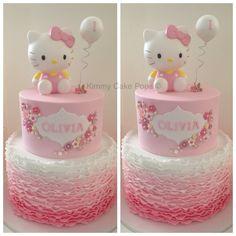 New Birthday Cake Kids Girls Hello Kitty 36 Ideas Hello Kitty Fondant, Hello Kitty Torte, Hello Kitty Birthday Cake, Hello Kitty Cookies, Bolo Kitty, Bolo Da Hello Kitty, Cool Birthday Cakes, Birthday Cake Girls, Pink Birthday