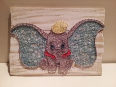 Dumbo for a little boy. String art. Check us out on Facebook at All Strung Up. https://www.facebook.com/pages/All-Strung-Up/915873695199667?ref=hl