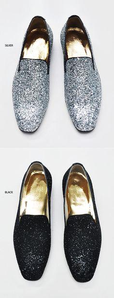 Lux Glittering Crystal Encrusted Slip On Loafer-Shoes 193 - GUYLOOK