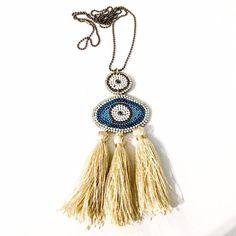 Boho statement necklace σε γήινα χρώματα