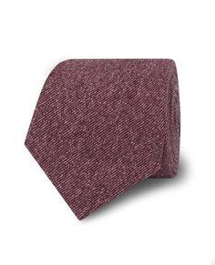 Berry Textured Print Cotton Blend Tie | T.M.Lewin