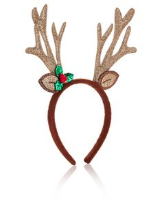 0c4b2c23edd24 Decorated with glittery reindeer antlers