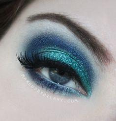 Used my Wet n' Wild Blue Had Me At Hello palette to create this, and topped it off with some ocean blue glitter!