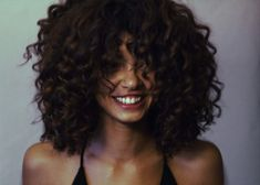 hair, curly, and smile image