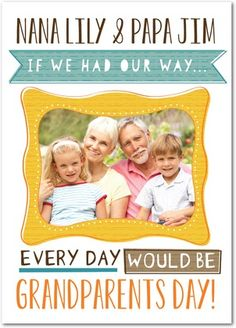 Daily Celebration | Grandparents Day Cards from Treat.com