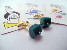 Monopoly Hotel Token Kitsch Cufflinks Cuff links DORK by luv4sams, $10.00