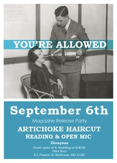Artichoke Haircut: You're Allowed :: Sept. 6th