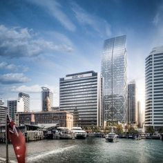 The planned Precinct office tower on Auckland's waterfront.