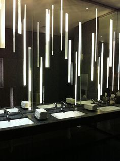 Bathroom in the lobby of the W hotel in Atlanta by huwomack, via Flickr