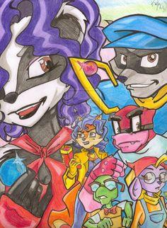 Sly Cooper Fan Art - OC And The Gang by ChichiriCatSan.deviantart.com on @deviantART