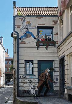 Comic + Streetart in Brüssel I Belgien I Zeichner Tibet I Minza will Sommer