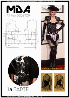 ModelistA: A4 - NUM 0026 TOPterça-feira, 10 de fevereiro de 2015 A4 - NUM 0026 TOP Os corpetes de baixo peito estão mais focados para a linha da cintura. Eles precisão de ser usados com uma blusa ou um vestido por baixo, e são menos quentes e mais fáceis de vestir que os corpetes sobre o peito.