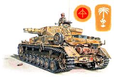 """Panzer IV Ausf. E """"tactical number 811"""" panzer 8th Regiment, 15th Panzer Division, Libya 1941-1942. David E. Smith - BFD"""