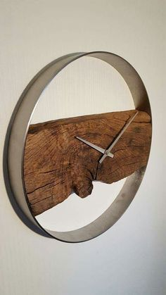 20 Diy Wall Clock Ideas. Could use a quarter or head hoop and staves off a bourbon or wine barrel