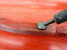 Plastic Welding repair - Bury the wire mesh - http://www.urethanesupply.com/kcwelder.php