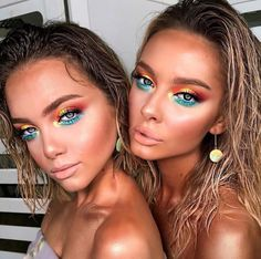 42 Beautiful wedding make-up for your big day Glam Makeup, Bright Makeup, Pretty Makeup, Colorful Makeup, Skin Makeup, Makeup Art, Makeup Tips, Beauty Makeup, Makeup Looks