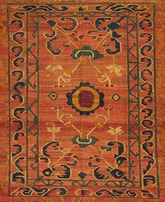 One of a Kind - Assorted Flatweave - 62657 Sunrise Flatweaves Sample - Samad - Hand Made Carpets Orange Rugs, Handmade Decorations, Rugs Online, Carpets, Sunrise, Design, Home Decor, Farmhouse Rugs, Rugs