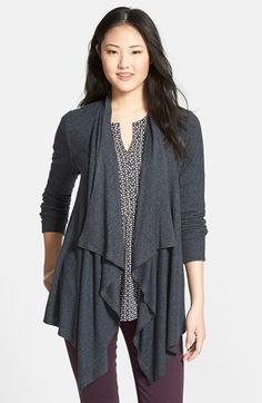 Bobeau Open Drape Front Cardigan available at #Nordstrom
