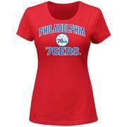 #Spring #AdoreWe #NBAStore.com - #NBAStore.com Majestic Philadelphia 76ers Women's Heart and Soul T-Shirt - Red - AdoreWe.com