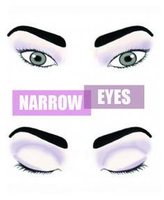 Il miglior trucco per gli occhi stretti. Applicazione di trucco per soddisfare la vostra forma degli occhi