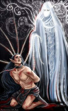 Эру Илуватар и Мелькор by Ancksiestas