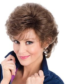 Tony of Beverly Wigs Kate Wavy Curls, Loose Curls, Formal Hairstyles, Wavy Hairstyles, Wedding Hairstyles, Long Curly Hair, Curly Hair Styles, Chin Length Cuts, Light Strawberry Blonde