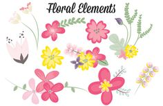 Check out 10 Vibrant Floral Elements by Eyes Of Style on Creative Market