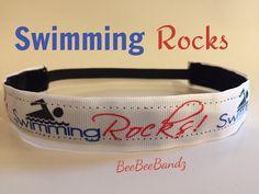 A personal favorite from my Etsy shop https://www.etsy.com/listing/241249431/no-slip-headband-swimming-rocks-handmade