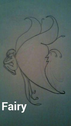Drawing of a fairy ~BriLynn