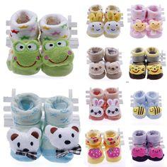 1pair Newborn Soft Sole Cotton Doll Baby Anti-slip Indoor Warm Sock Shoe Booties