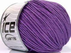 Fiber Content 60% Bamboo 40% Cotton Lavender Brand Ice Yarns fnt2-50554