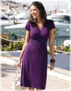 Contrast Stitch Jersey Dress by Bravissimo
