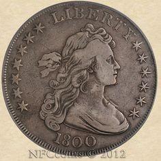 1800 Draped Bust Dollar, obverse